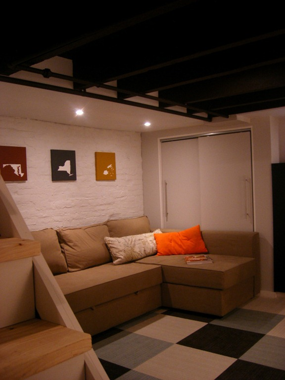 modern take on a hunting theme basement from josie jones co before