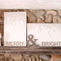 Christmas art canvas Merry and bright snow silver and white (19)