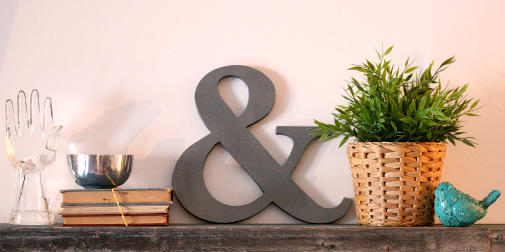 DIY Ampersand decoration featured image