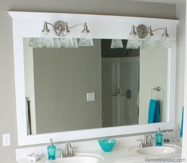 DIY Mirror Frame By Remodelaholic