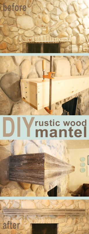 Wood Mantel Diy
