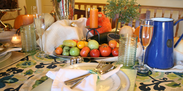 Fall Bounty tablescape Thanksgiving Table setting (13)
