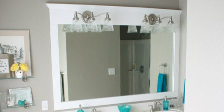 Framing A Large Bathroom Mirror In Place