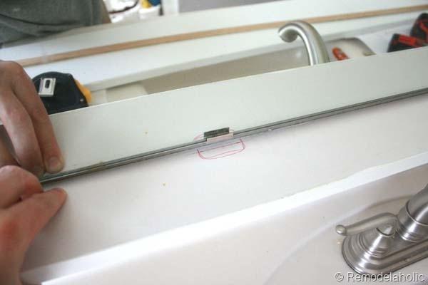 Framing a large bathroom mirror 10