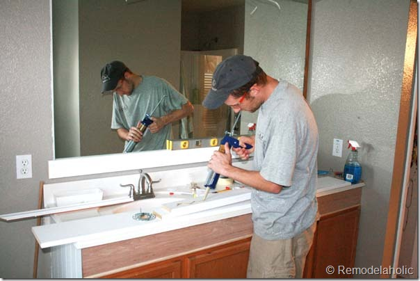 Framing A Large Bathroom Mirror 13