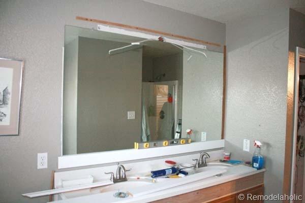 Framing a large bathroom mirror 14