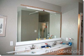 Framing a large bathroom mirror (14)