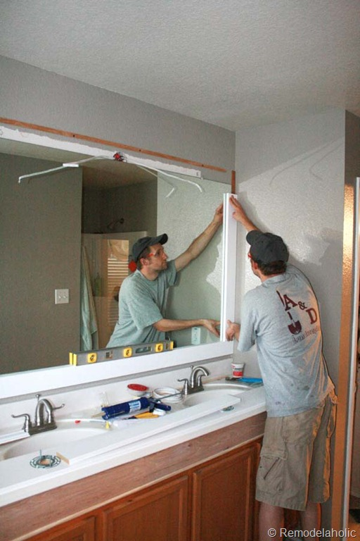 Framing a large bathroom mirror construction haven for Large framed bathroom wall mirrors