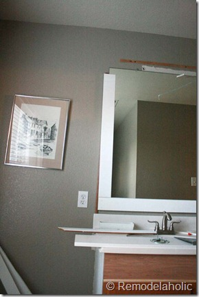 Framing a large bathroom mirror (17)