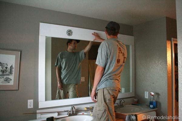 Framing a large bathroom mirror 19