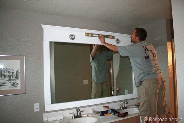 Framing a large bathroom mirror 20