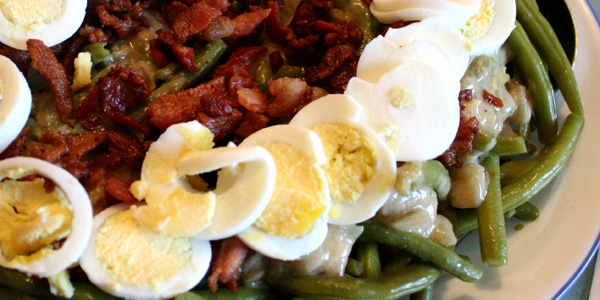 Green beans with Bacon Recipe Featured image