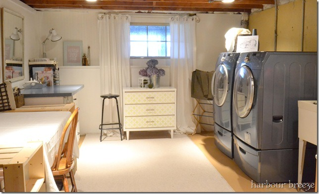 Harbor Breeze Laundry Room After Basement