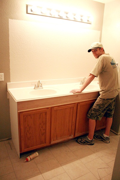 How to Add height to a short bathroom vanity (32) ...
