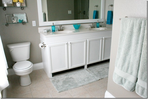 Custom Bathroom Vanity Legs remodelaholic | how to raise up a short vanity