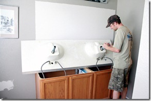 How to Add height to a short bathroom vanity (9)