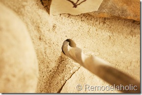 Installing a wood mantel on a stone wall (15)