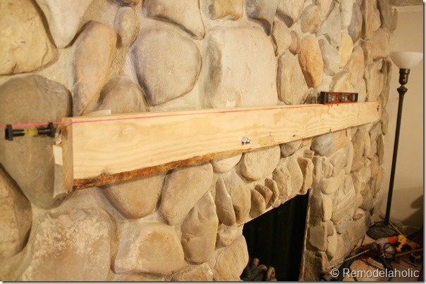 Installing A Wood Mantel On Stone Wall 23