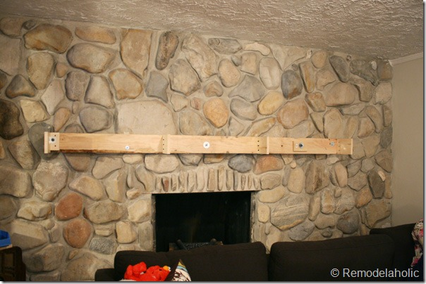 Installing A Wood Mantel On Stone Wall 60