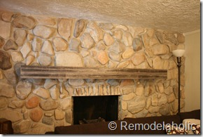 rock fireplace mantel.  Installing a wood mantel on stone wall 80 Remodelaholic A Wood Mantel On Stone Wall