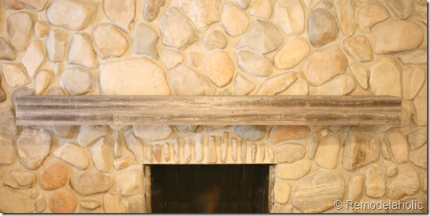 Installing a wood mantel on a stone wall final image