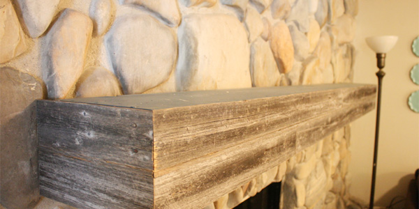 Installing a wood mantel on a stone wall
