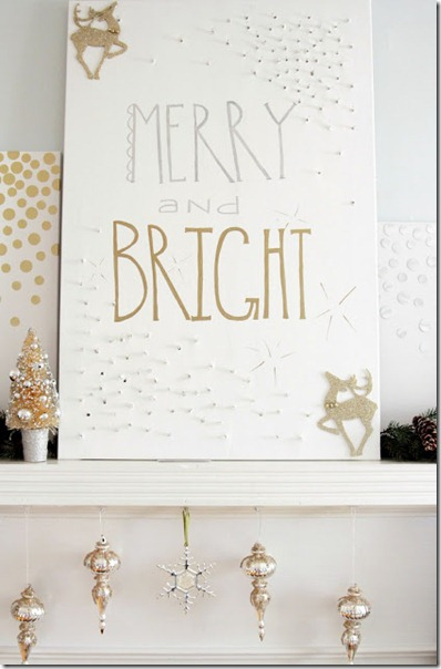 Merry and bright mantel decor