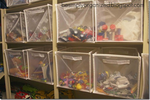 Simply Organized toy bins