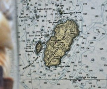 DIY Nautical Map Chart Wallpaper