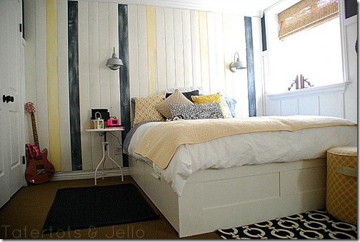 Remodelaholic   Home Sweet Home on a Budget: Bloggers ... on Teenager Basement Bedroom  id=44230