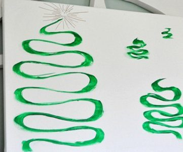 Simple Christmas Tree Art Canvas