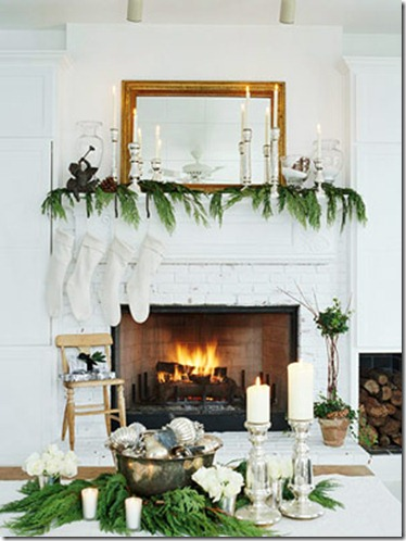 small space style white mantel