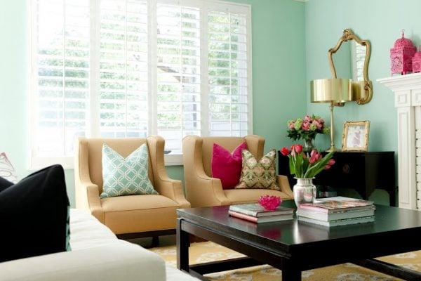 BDG Style mint living room