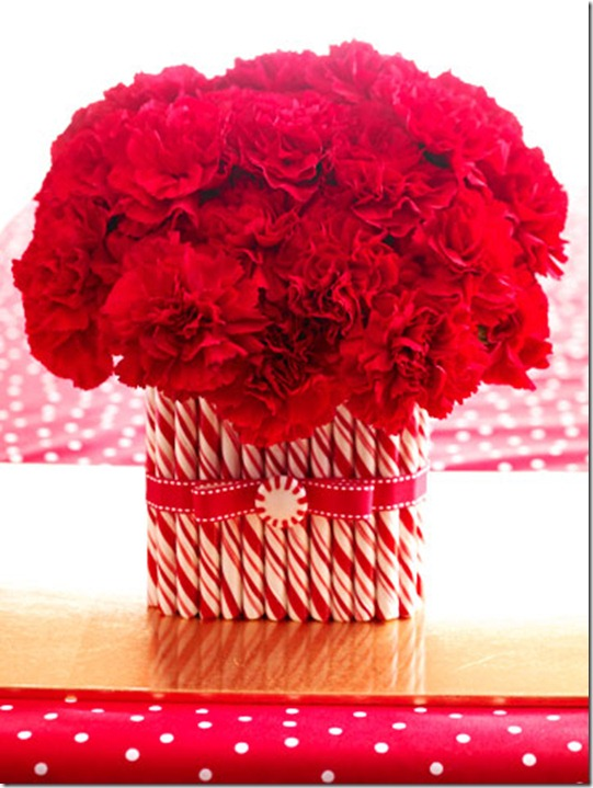 BHG Peppermint Vase