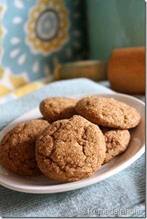 Chewy Gingerbread cookies2