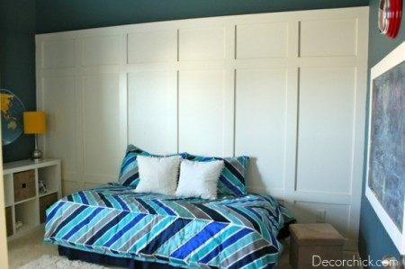 Decor Chick panelled wall