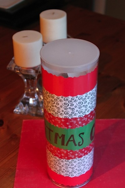 Dollar Store Mom Christmas can