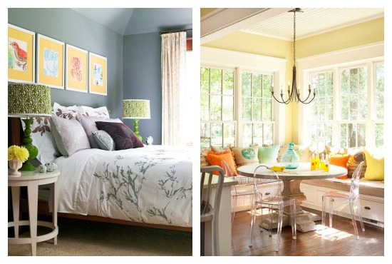1. Bright Bedroom | 2. Sunny Banquette | 3. Cozy Family Room | 4. Aqua  Poppy Kitchen | 5. Colorful Sitting Area | 6. Light Filled Living Room Part 83