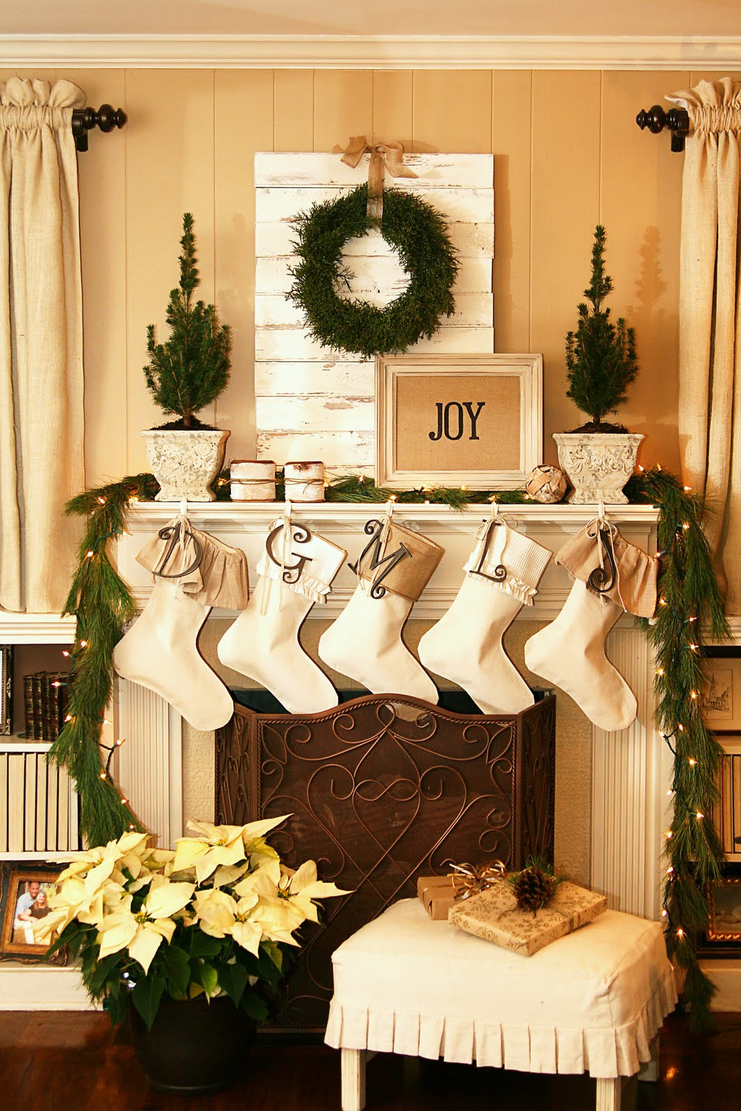 Remodelaholic | Home Sweet Home for Christmas: Mantel ...