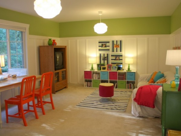 Hooked on Houses lime playroom
