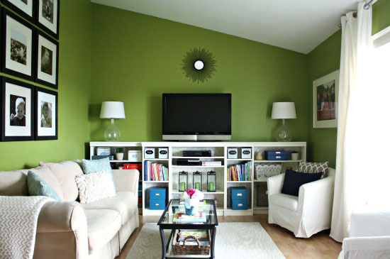 how to organize a living room remodelaholic best paint colors for your home green 25389