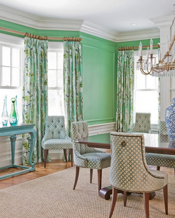 Katie Rosenfeld Design green living room