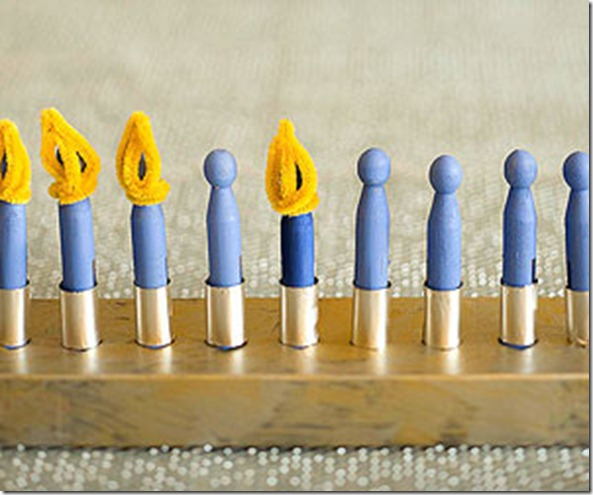 Parent's Magazine Clothespin Menorah