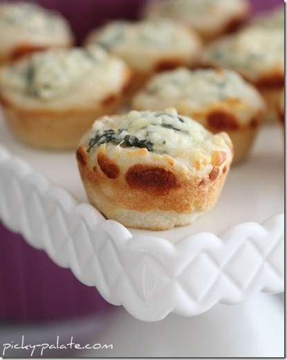 Picky Palate Baked Spinach Dip Mini Bread Bowls
