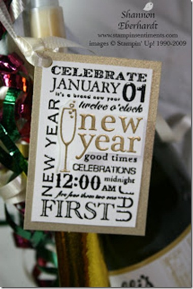 Stampin Sentiments bottle tag
