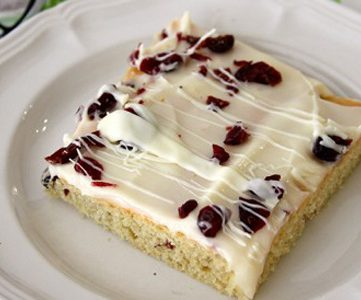 Starbucks Cranberry Bliss Bars  (copycat)