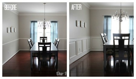 Wainscoting collage