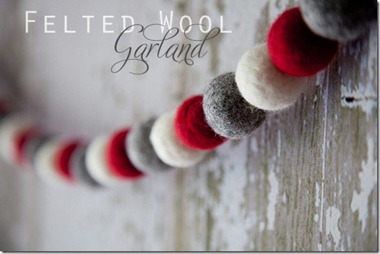 Whipperberry Felted Wool Garland