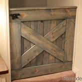 Barn-Door-Baby-Gate-or pet satety gate for-Stairs-2