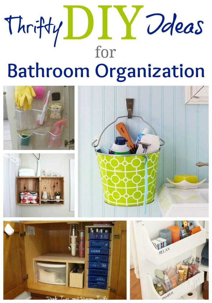 Home Sweet Home on a Budget: Bathroom Organization | DIY